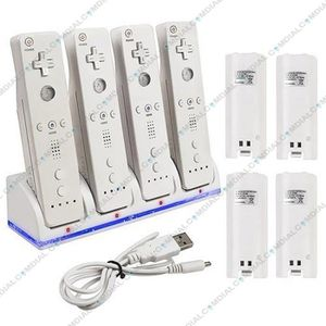 CHARGEUR CONSOLE Station de charge pour MANETTE WII + 4 BATTERIES