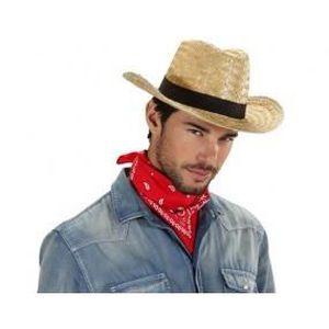 CHAPEAU - PERRUQUE Chapeau cowboy en paille adulte