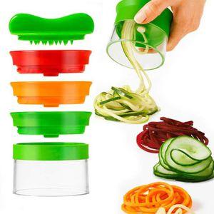 MANDOLINE DE CUISINE Coupe Légumes Spirale, 3 en 1 legumes Spaghetti Sp
