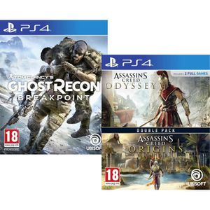 JEU PS4 Pack Jeux PS4 : Ghost Recon BREAKPOINT + Compilati