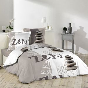 housse de couette zen achat vente housse de couette. Black Bedroom Furniture Sets. Home Design Ideas