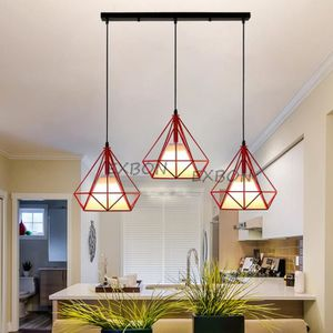 LUSTRE ET SUSPENSION EXBON E27 Lustre Suspension Cage Diamant Abat-jour