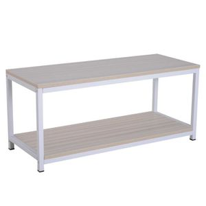 TABLE BASSE Table basse rectangulaire style industriel avec ét