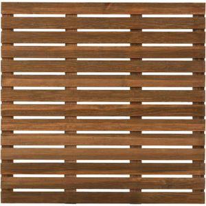DALLAGE Dalle de terrasse en bois First teinté 100cm motif