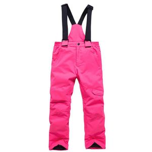 Enfants Pantalon de Ski Unisexe Pantalon de Neige Gar/çons Filles Salopette de Ski Pantalon Avec Bretelle Hiver Imperm/éable Ext/érieur Pantalon de Snowboard 2-4 Ans