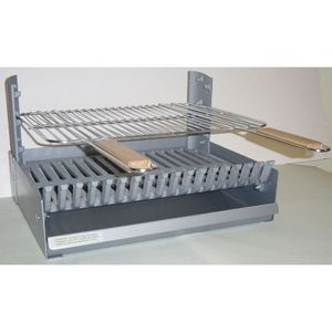 BARBECUE Grilloir réglable en 3 hauteurs - Fonte - 58x48,5x