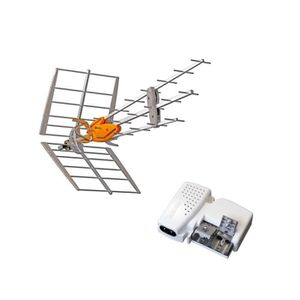 ANTENNE RATEAU TELEVES Pack Antenne TNT DAT HD BOSS UHF + Aliment