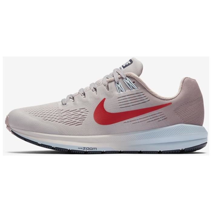 NIKE Chaussures de running Air Zoom Structure Femme BlancRouge