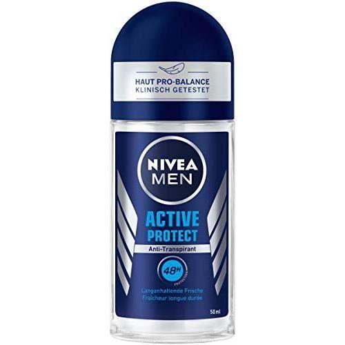 NIVEA MEN Active Protect Deo Roll-On 50 ml Antitranspirant pour une sensation de peau fraîche, déodorant 48 h a 82808-01000-2