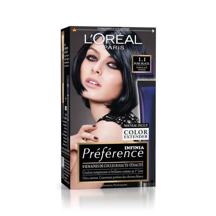 L'OREAL PARIS Coloration Permanente 1,1 Pure Black