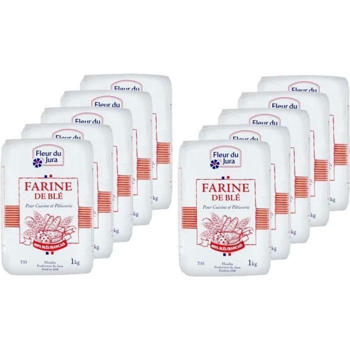 Lot 10 - Epicerie sucrée - Farine - T55 blé tendre 100% français - paquet 1kg