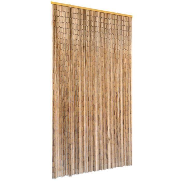 Rideau de Porte en Bambou Contre Insectes 100*200 cm