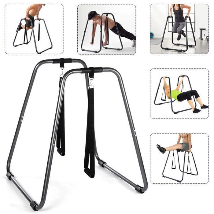 Barre de tractions - station musculation - 150kg - horizontale parallèles intérieur extérieur d'équipement de fitness avec ceinture