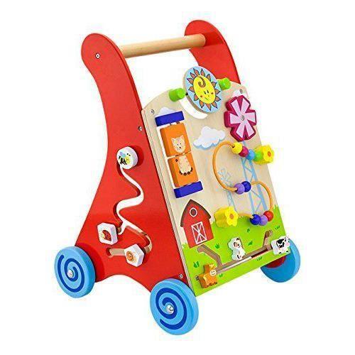 Viga Toys Viga - 2043635 - Jouet De Premier Âge - Chariot À Pousser - Rouge - 1304