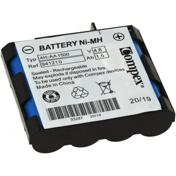 Compex 941210 Batterie Standard Ni-MH, 4H-AA 1500 agrave 4 cellules, Bleu