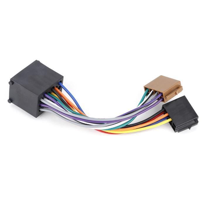 Gorgeri Adaptateur autoradio Câble de faisceau stéréo Câble ISO pour E36 E46 E39