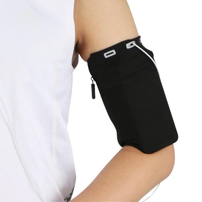 Sac de bras multifonctionnel Gym, support de téléphone portable, extérieur bande de course étanche bras ceinture pour Sport Noir L