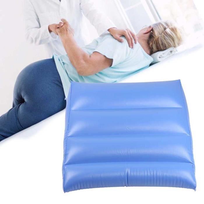 Drfeify Coussin anti-escarres Coussin de dos gonflable multifonction Coussin triangulaire anti-escarre pour soins de santé bleu