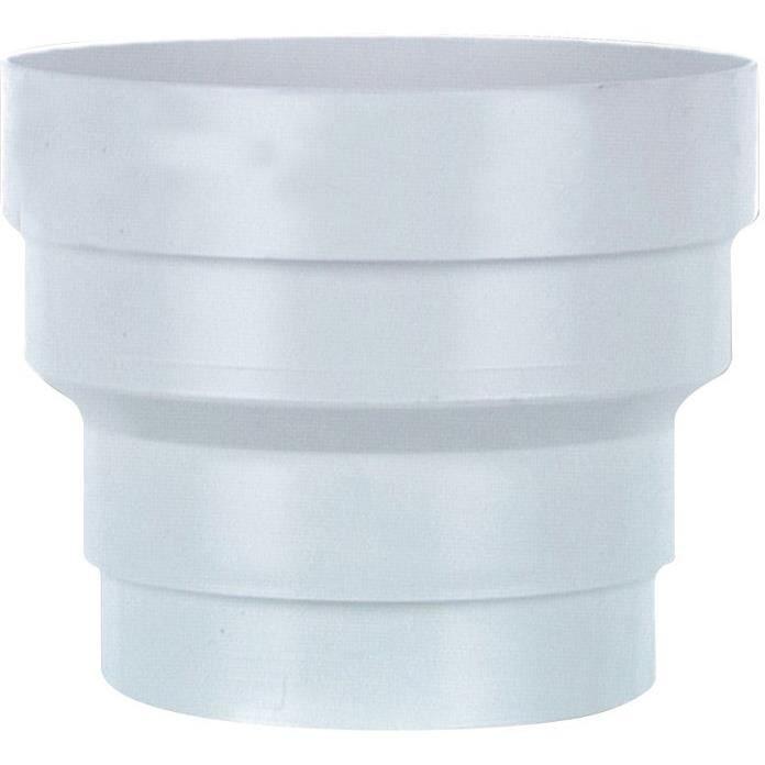 Réduction pvc blanc d.150 à 125mm