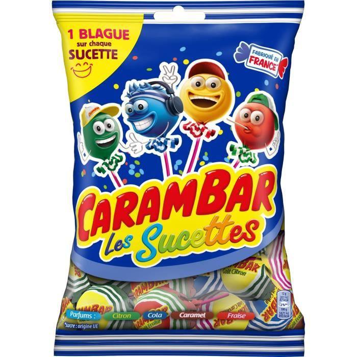 CARAMBAR Bonbons Sucettes Family - 156 g