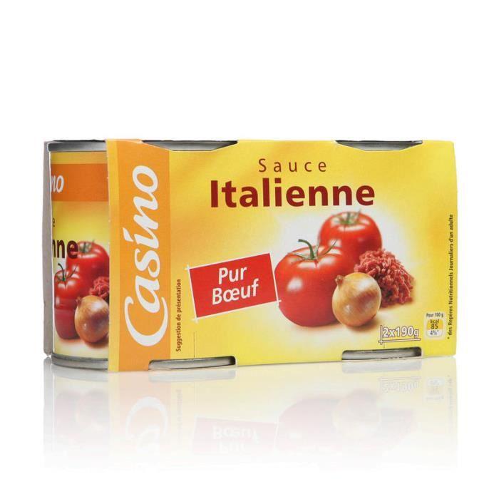 Sauce italienne - 2X190g - Boeuf 100 % Français