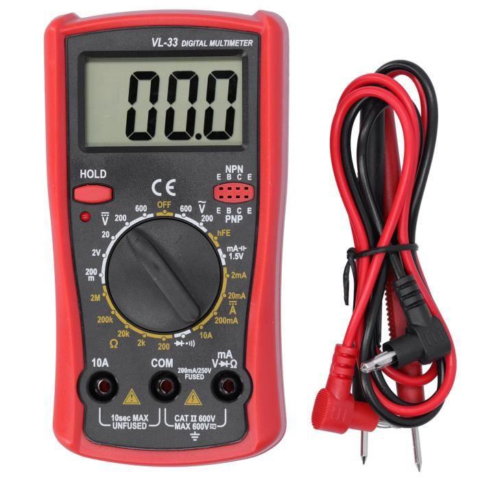 Multimètre digital Multimètre Électronique Numérique LCD Testeur Électrique de Courant de Résistance de Tension-FUT