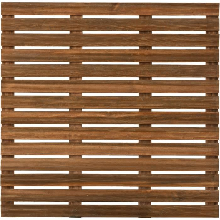 Dalle de terrasse en bois First teinté 100cm motif droit