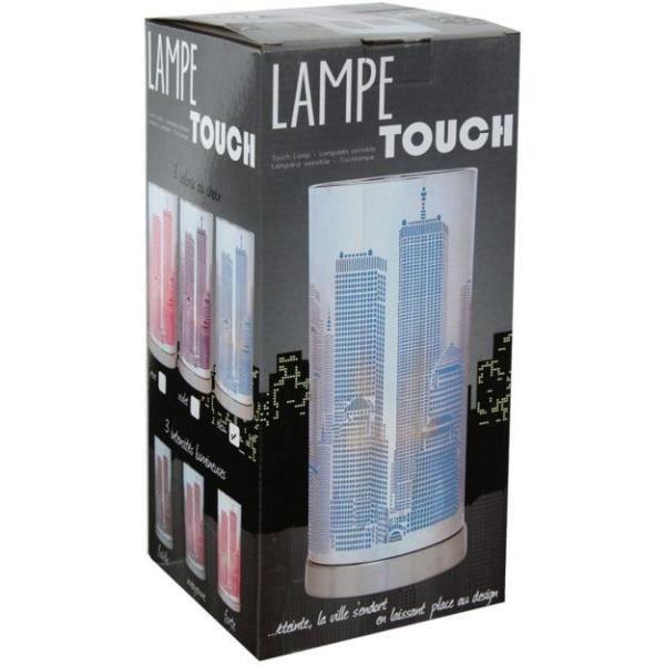 Lampe Touch New-York avec variateur Modele Rose
