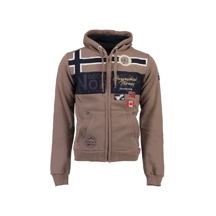 Sweat � capuche Enfant Geographical Norway Garadock Taupe