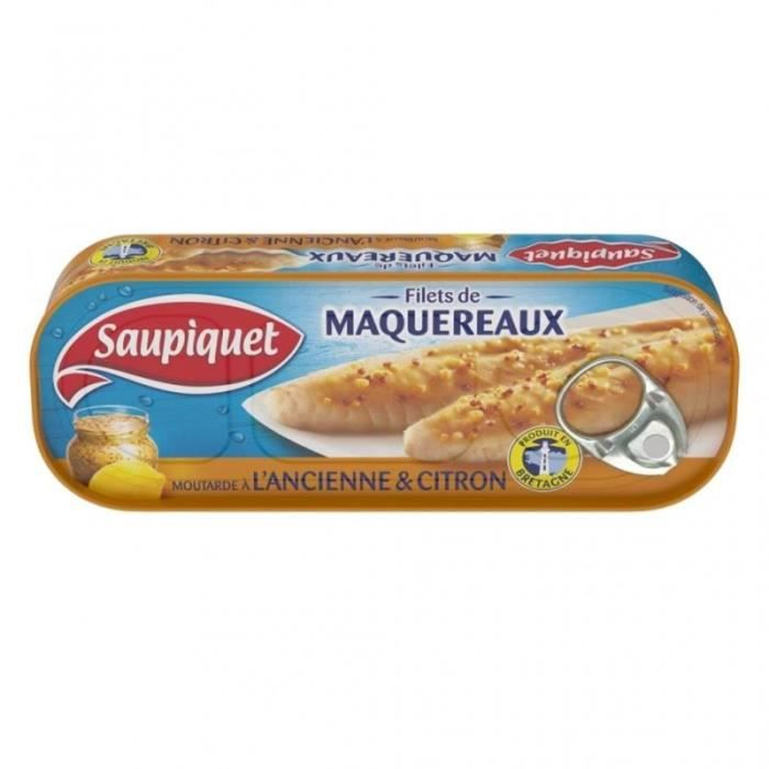 Saupiquet Filets de Maquereaux Moutarde Ancienne & Citron 169g (lot de 5)