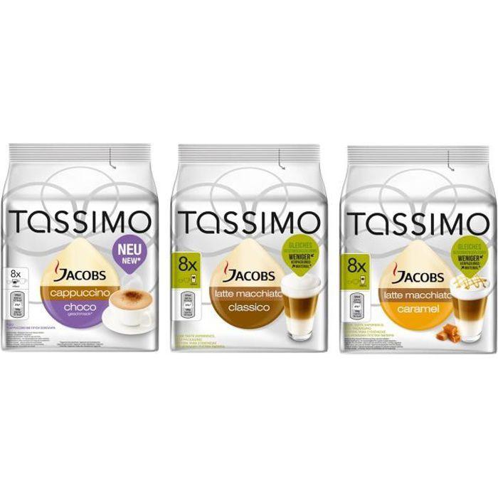 Tassimo Jacobs Cappuccino Latte Macchiato Dosettes SET