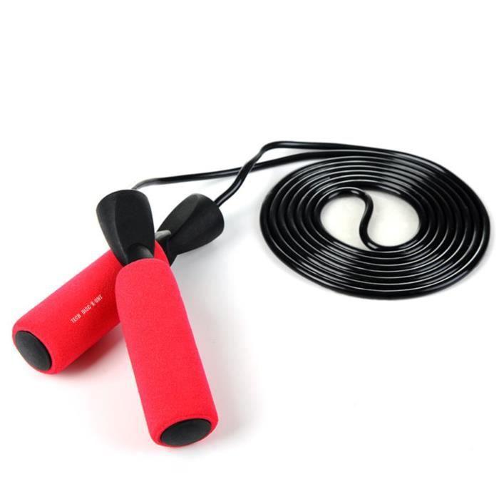 TD® Corde à sauter cordes à sauter enfants Sport exercice vitesse gymnase maison Fitness Équipement de fitness-rouge