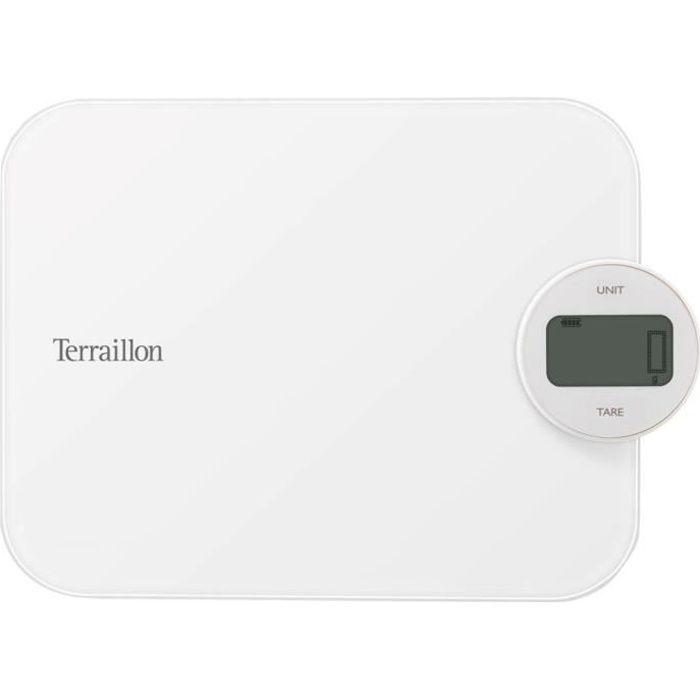 terraillon - balance de cuisine electronique 5kg - 1g blanc - 14750
