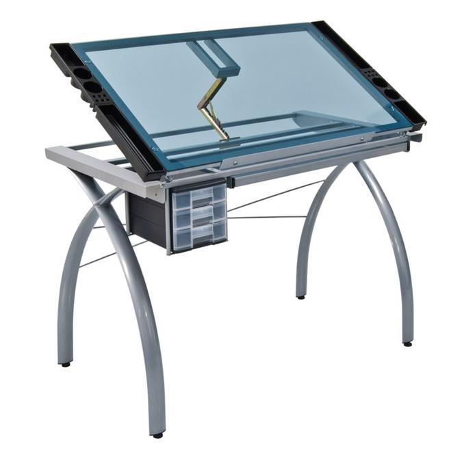 table dessin futura argent achat vente table a