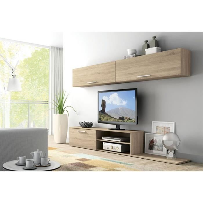 meuble tv quasaco mural 424 achat vente meuble tv meuble tv quasaco mural 424 cdiscount. Black Bedroom Furniture Sets. Home Design Ideas