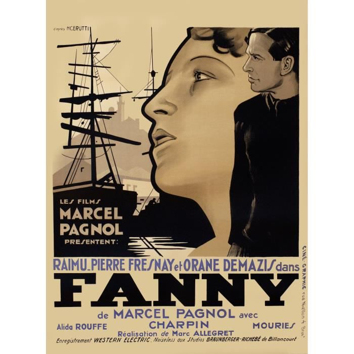 fanny marcel pagnol repro poster cin ma 60x80 achat vente affiche cdiscount. Black Bedroom Furniture Sets. Home Design Ideas