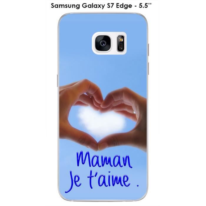 Coque Samsung Galaxy S7 Edge design Maman je t'aime - Cdiscount ...