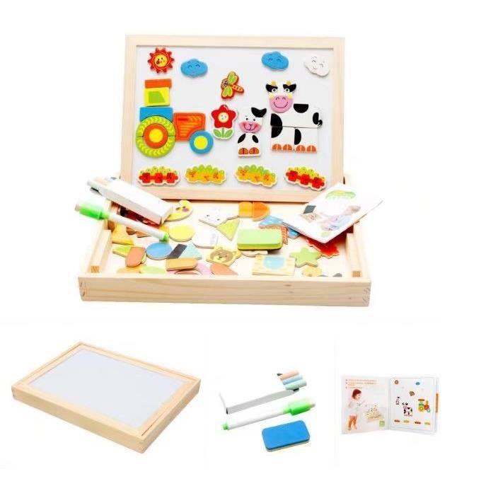 PUZZLE Animal Puzzle en Bois Magnétique enfant Jouets Bab