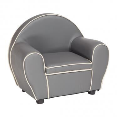 fauteuil club gris gris clair gris achat vente. Black Bedroom Furniture Sets. Home Design Ideas