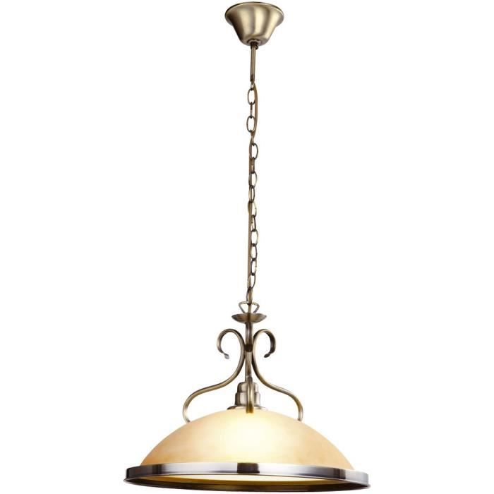 Suspension luminaire cuisine simple applique chester en cuivre satin pied en - Ancien lustre suspension ...
