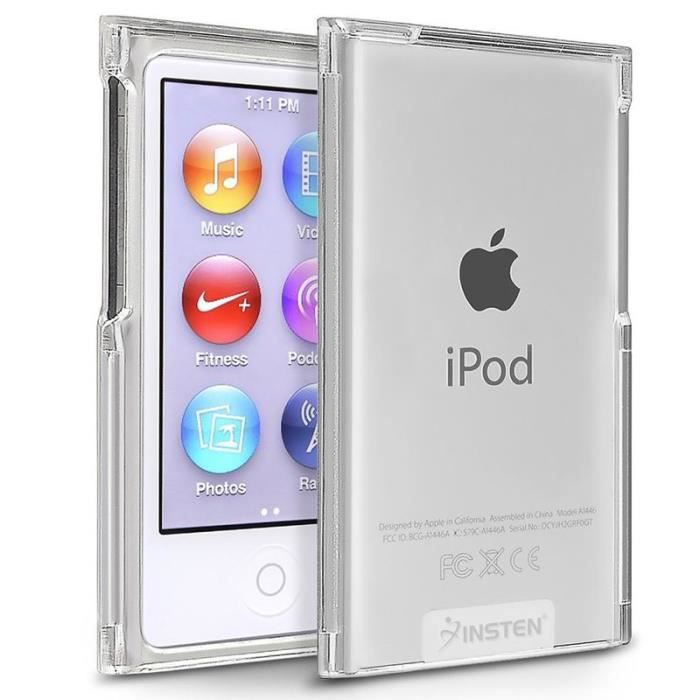 Insten slim housse tui coque transparent pour apple ipod for Housse ipod nano