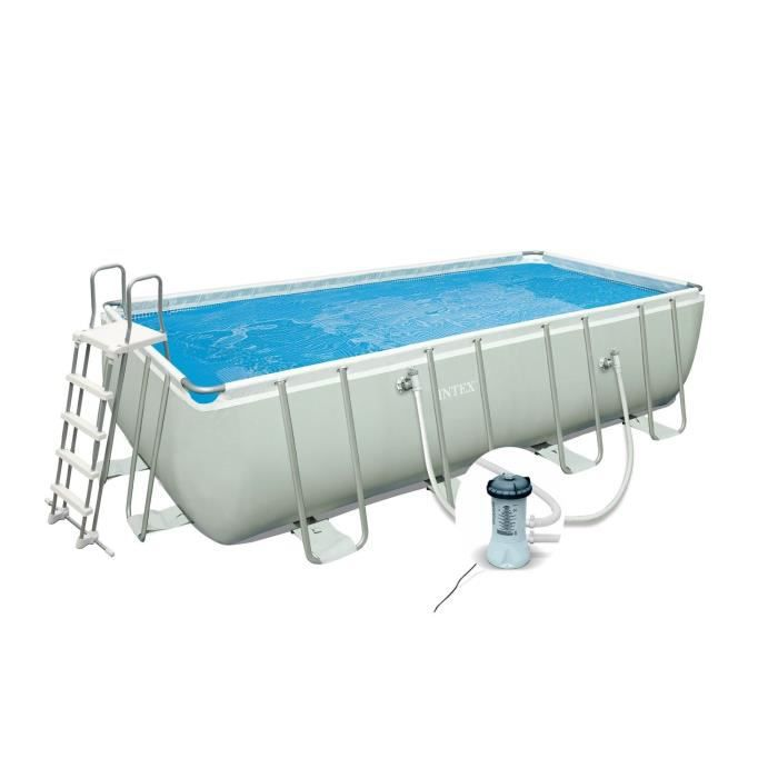 Intex ultra frame kit piscine rectangulaire tubulaire 4 x for Piscine hors sol ultra frame
