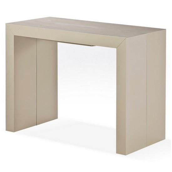 Table console extensible taupe clair evan achat vente table a manger seul - Table a manger taupe ...