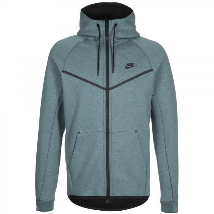 4f826f550600b Sweat Nike Tech Fleece Windrunner - 805144-055 Bleu Bleu - Achat ...