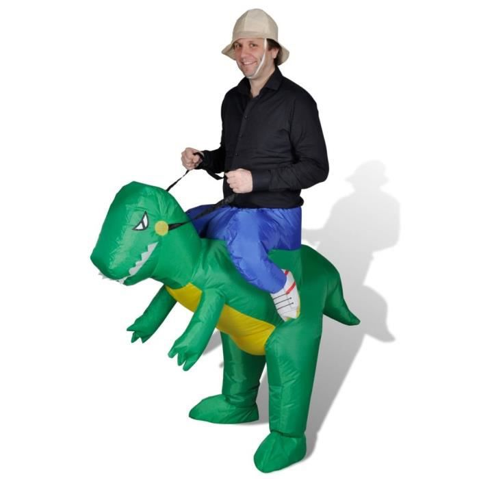 d guisement pour carnaval c r monie costume unisexe adulte dr le de dinosaure gonflable vert. Black Bedroom Furniture Sets. Home Design Ideas