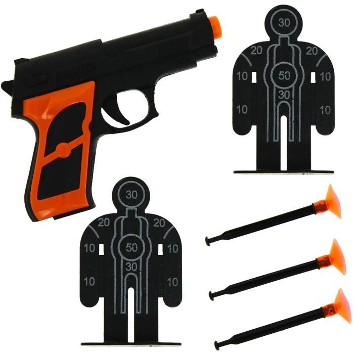 set policier jeu de tir jouet enfant pistolet 3 achat vente pistolet bille mousse les. Black Bedroom Furniture Sets. Home Design Ideas