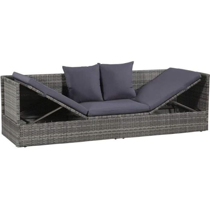 Canapé de Jardin | Salon de Jardin | Mobilier de Jardin | Mobilier  d\'extérieur | Canapé extérieur avec Coussins en Résine Tressée