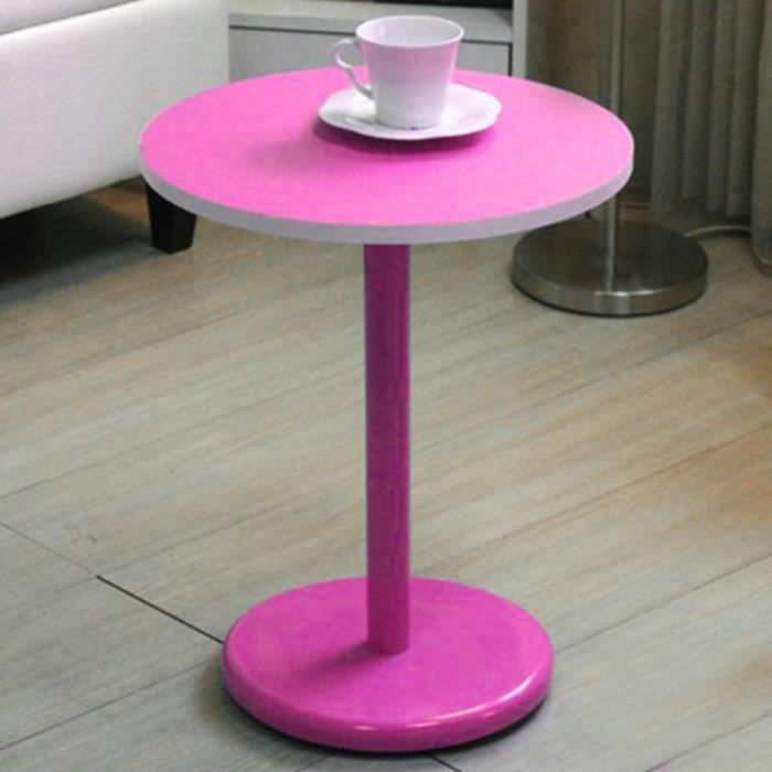 Cindy table de chevet rose achat vente chevet for Table de chevet rose