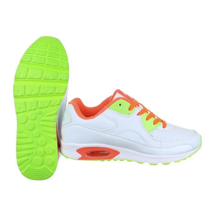 Femme chaussures loisirs chaussures Chaussures de sport lacer blanc Multi 41