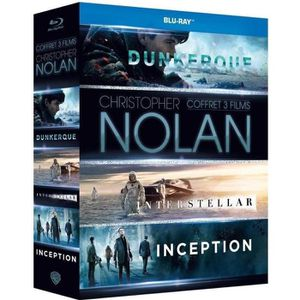 DVD SÉRIE Coffret 3 DVD Nolan : Inception, Interstellar & Du